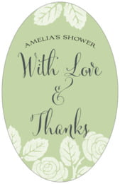 Floral Bliss tall oval labels