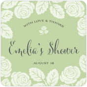 Floral Bliss bridal shower coasters