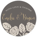 Floral Bliss circle labels
