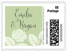 Floral Bliss custom postage stamps