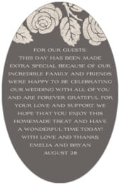 Floral Bliss oval text labels