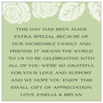 Floral Bliss square text labels
