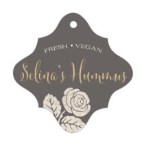 Floral Bliss fancy diamond hang tags