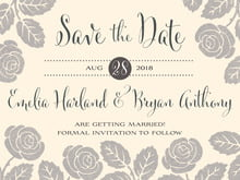 custom save-the-date cards - cappuccino - floral bliss (set of 10)