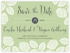 Floral Bliss save the date cards