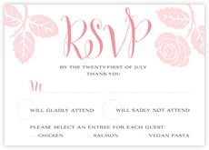 Floral Bliss response cards