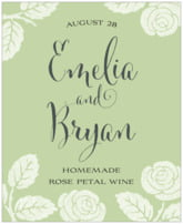 Floral Bliss anniversary wine labels