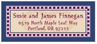 Garland hanukkah address labels
