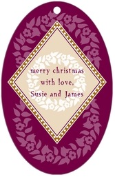 Garland large oval hang tags