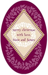 Garland tall oval labels
