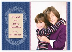 Garland Photo Cards - Horizontal In Deep Blue