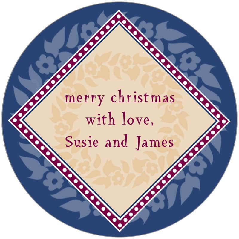 circle food/craft labels - deep blue - garland (set of 12)
