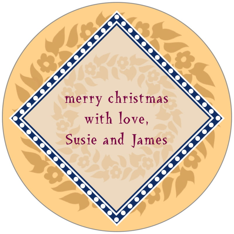 circle food/craft labels - sunburst - garland (set of 20)