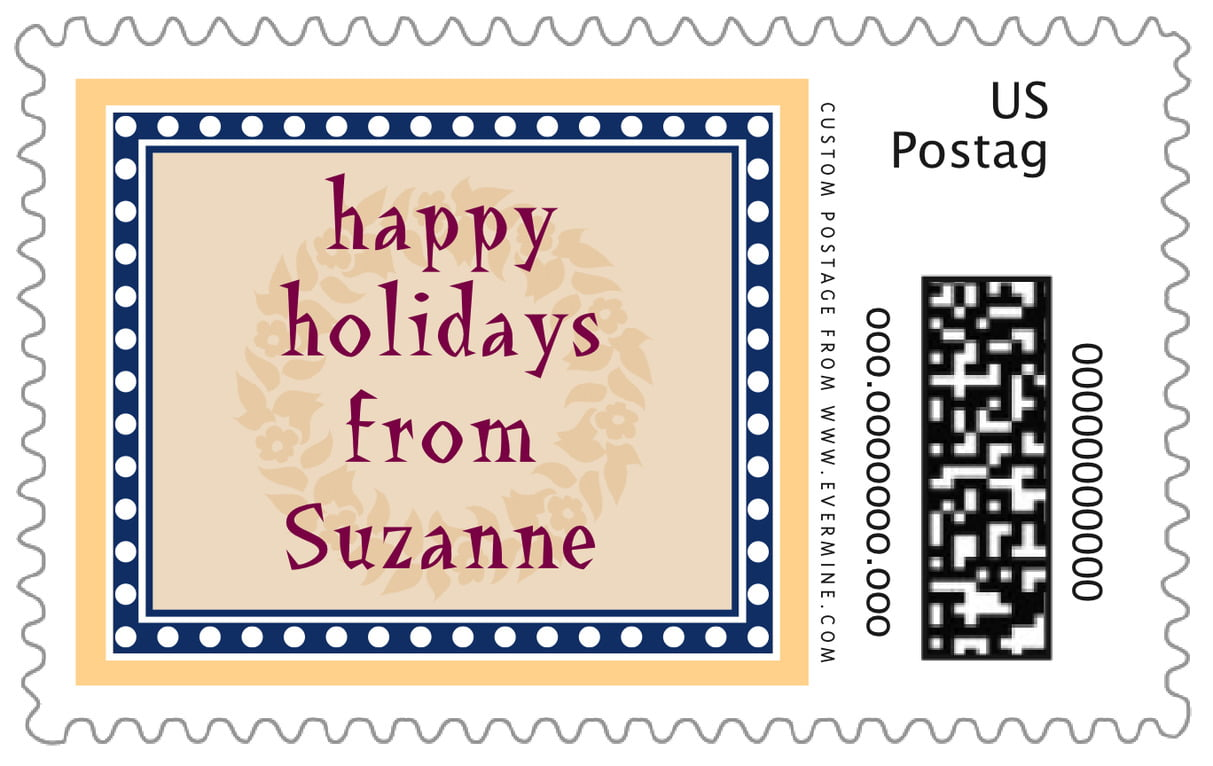 custom large postage stamps - sunburst - garland (set of 20)