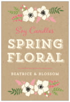 Graceful Floral tall rectangle labels