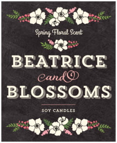 Graceful Floral large labels