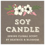 Graceful Floral square labels