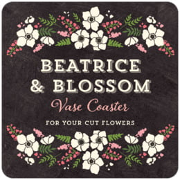 Graceful Floral square coasters