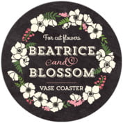 Graceful Floral business coasters
