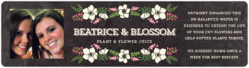 Graceful Floral bottled water labels