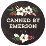 Graceful Floral circle labels