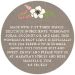Graceful Floral circle text labels