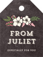 Graceful Floral small luggage tags