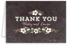 Graceful Floral wedding thank you cards