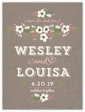 Graceful Floral save the date cards