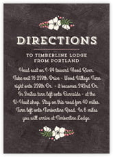 Graceful Floral Enclosure Card In Chalkboard