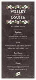 Graceful Floral menus