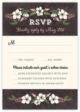 Graceful Floral response cards