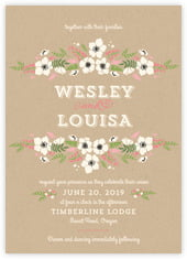 Graceful Floral invitations