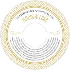 Gatsby anniversary CD/DVD labels