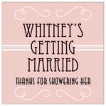 Gatsby bridal shower labels