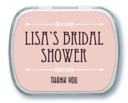 Gatsby bridal shower mint tins