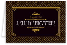 Gatsby business thank you cards