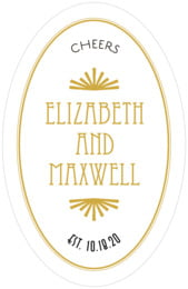 Gatsby tall oval labels