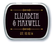 Gatsby wedding mint tins