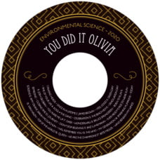 Gatsby graduation CD/DVD labels
