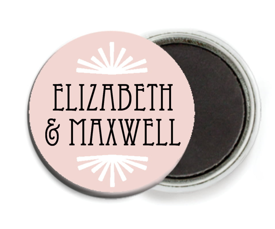 custom button magnets - pale pink - gatsby (set of 6)