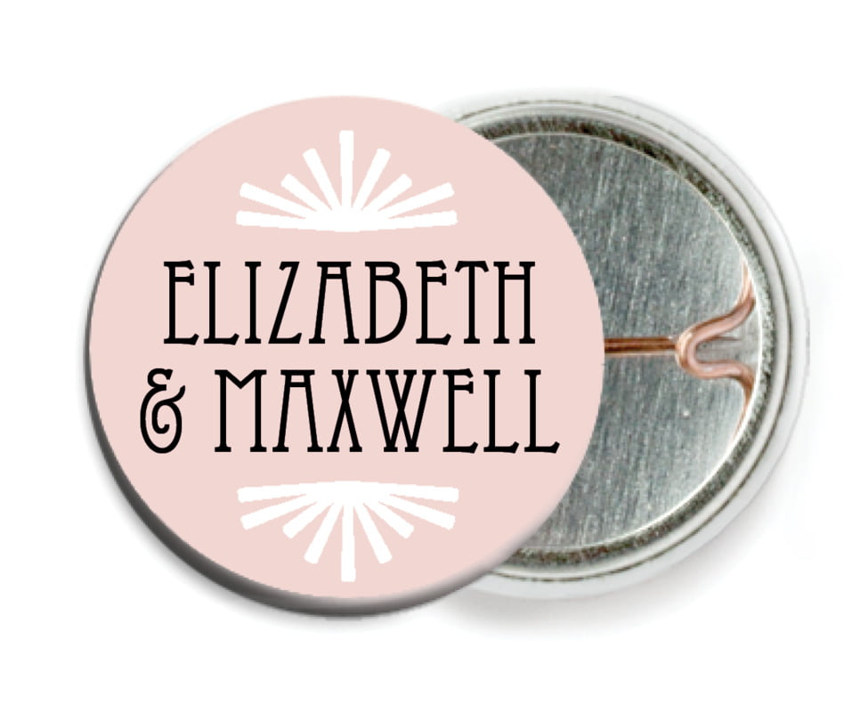 custom pin back buttons - pale pink - gatsby (set of 6)