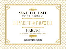 custom save-the-date cards - pale gold - gatsby (set of 10)