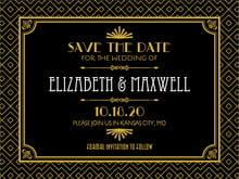 custom save-the-date cards - tuxedo - gatsby (set of 10)