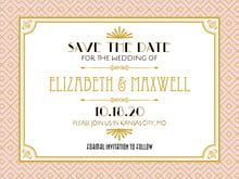 custom save-the-date cards - pale pink - gatsby (set of 10)