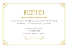 custom enclosure cards - pale gold - gatsby (set of 10)