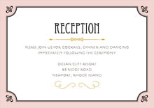 custom enclosure cards - pale pink - gatsby (set of 10)