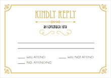 custom response cards - pale gold - gatsby (set of 10)