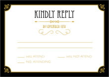 custom response cards - tuxedo - gatsby (set of 10)