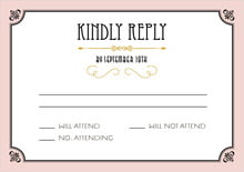 custom response cards - pale pink - gatsby (set of 10)